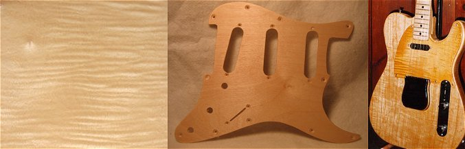 flamed maple pickguard blanks